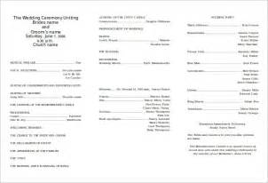 program templates 8 word wedding program templates free free