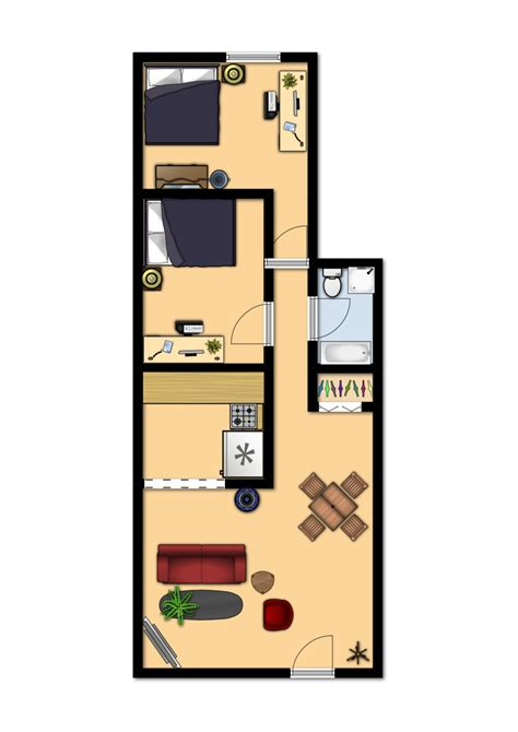 how big is 650 sq ft 650 square feet floor plan