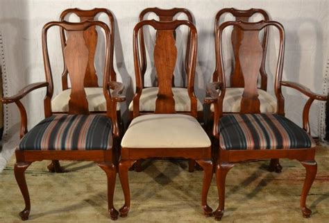 queen anne dining room chairs six cherry knob creek queen anne style dining room chairs