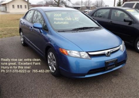 light blue honda civic 2008 honda civic lx light blue proteckmachinery com