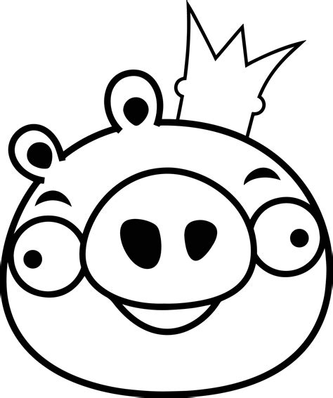 coloring pages of angry birds pigs angry bird king pig coloring page wecoloringpage