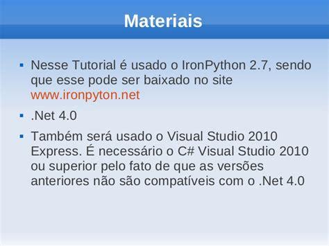 website tutorial visual studio 2010 tutorial rodando python no c