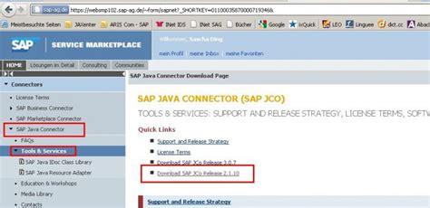 sap jco tutorial sap java connectors 2 1 9 version aris bpm community