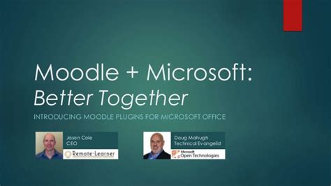 bett le bett 2015 moodle and microsoft better together