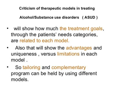 Treatment Goals For Detox Patient by Critique Of Different Approaches To Treat Addiction