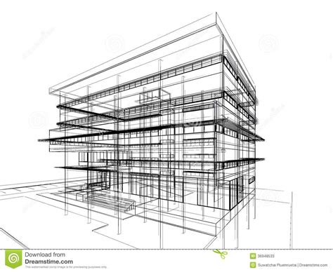building drawing plan conceptual plan 1333 drawing up sketch design of building stock illustration illustration