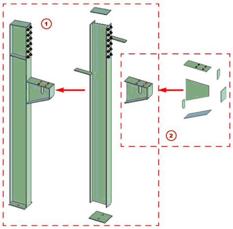 Column Corbel Beispiele F 252 R Baugruppen Tekla User Assistance