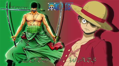 Kaos One Anime Luffy Zorro lord of wars monkey d luffy zorro hd fond d 233 cran and arri 232 re plan 1920x1080 id 499928
