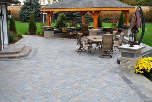 Large Paver Patio Large Paver Patio Pergola Roof Recently Added Ogs Landscape Services Whitby On Gardening And