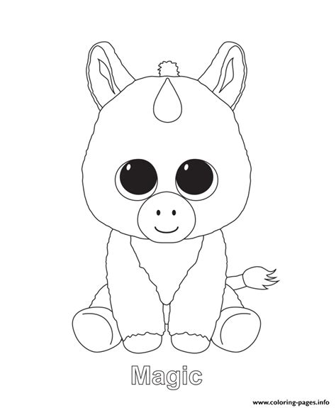 maggie the magic unicorn coloring book books magic beanie boo coloring pages printable