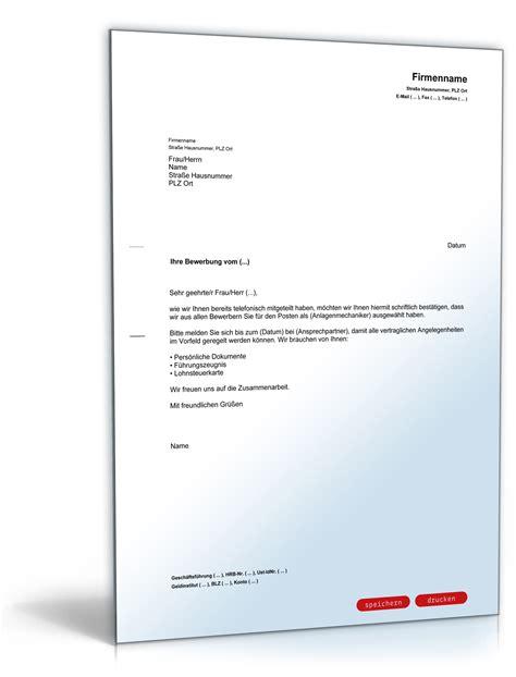 Bezahltes Praktikum Vertrag Vorlage Einstellungszusage Mit Bitte Um Pers 246 Nliche Unterlagen