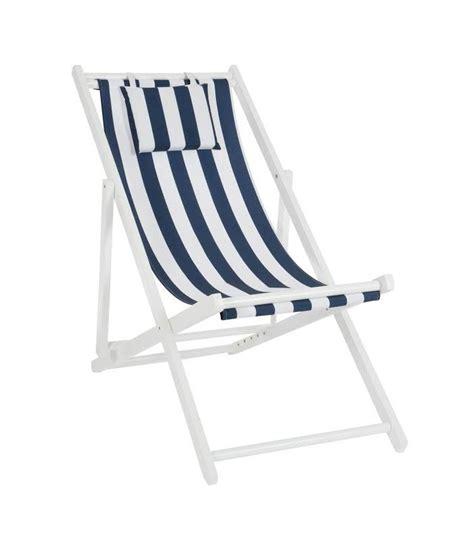 chaise longue chilienne chaise longue pliante chilienne en bois et tissu bleu et