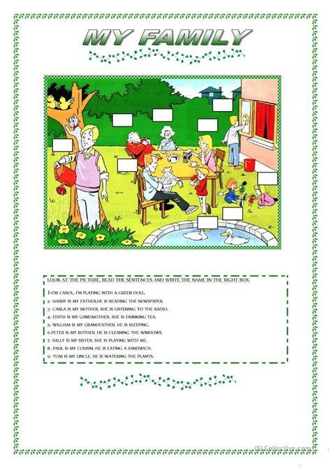 Family Activities 1 My Family Worksheet Free Esl Printable Worksheets Made