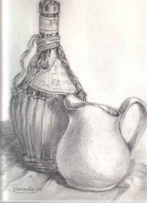 imagenes de jarrones a lapiz jarra y chianti en lapiz jorge capdevila artelista com