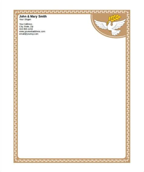 stationery templates for word free 31 word letterhead templates free sles exles