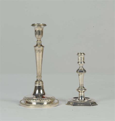 candelieri in argento due candelieri antichi diversi in argento house sale
