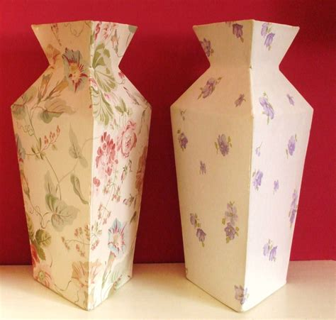 How To Make A Paper Mache Flower - small paper mache vases for faux flowers projects