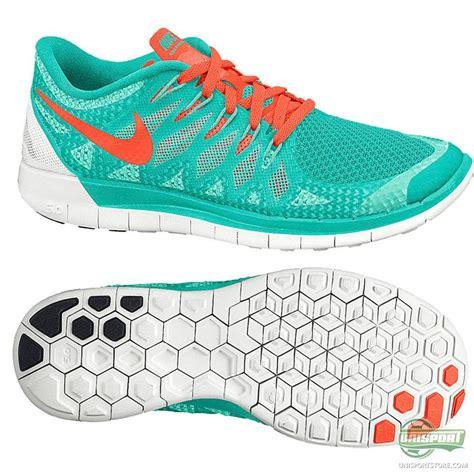 nike free running shoe 5 0 turquoise orange www