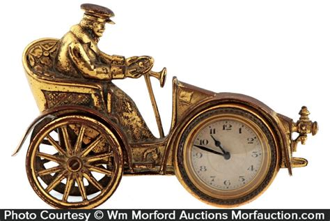 Auto Brass by Antique Advertising Brass Auto Clock Antique Advertising