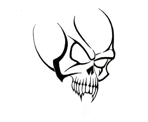 easy skull tattoo designs simple tribal skull designs www imgkid the