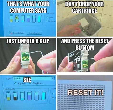 resetting your printer cartridge the 25 best ideas about reset ink cartridge on pinterest
