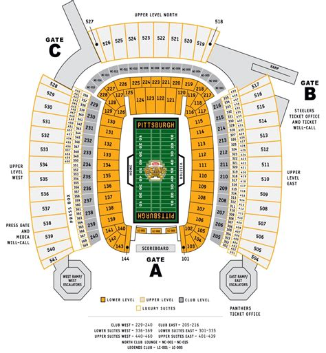 sections of pittsburgh 2 pittsburgh steelers vs browns tickets 12 29 legends club