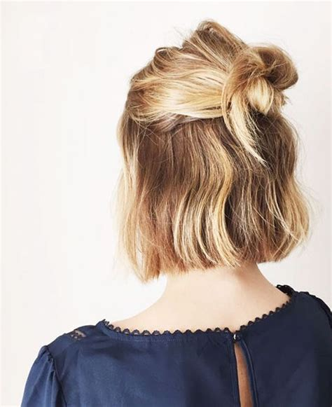 how to make a bun with a bob cut 15 hairstyle ideas to inspire your half buns pretty designs