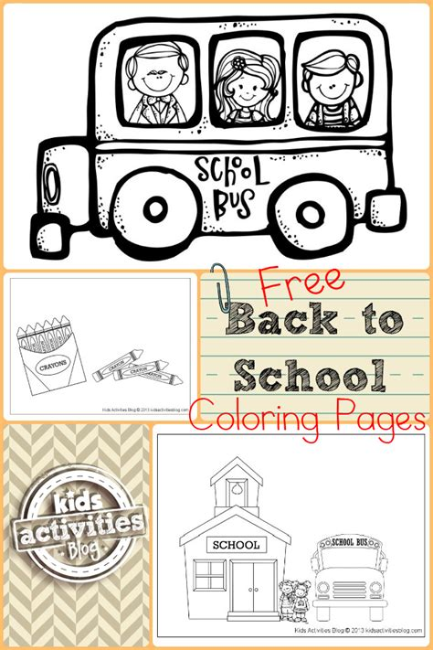 free back to school coloring pages for kindergarten free