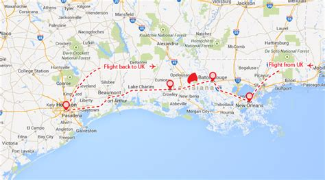 map texas and louisiana louisiana texas theinternettraveller