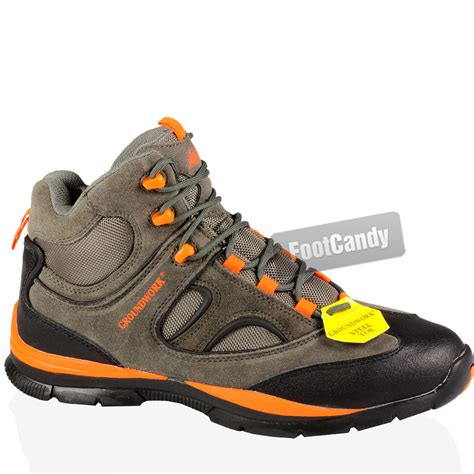 lightweight steel toe boots mens steel toe cap leather work safety outdoor lightweight