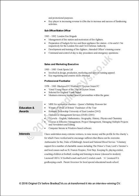 Free Cv Search Engines Uk by Free Cv Exle 3