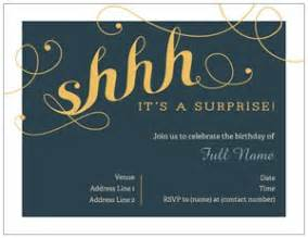 surprise party invitations vistaprint