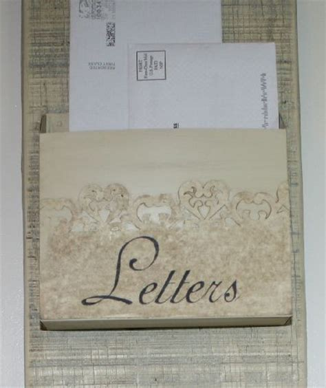 make a shabby chic mail organizer arts and crafts pinterest shabby chic the dollar store