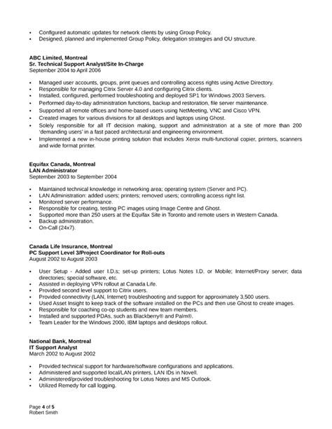 It Systems Administrator Resume by Professional System Administrator Resume Template Page 4
