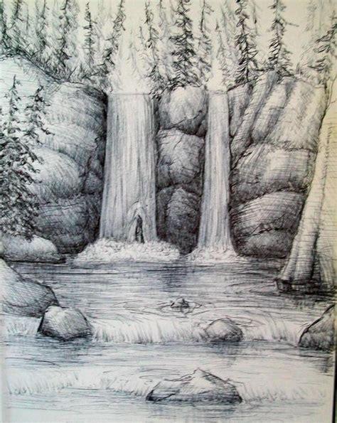 How To Draw A Waterfall how to draw a waterfall step by step arcmel
