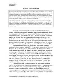 Literary Research Paper Sample Best Photos Of Example Of A Literature Review Sample