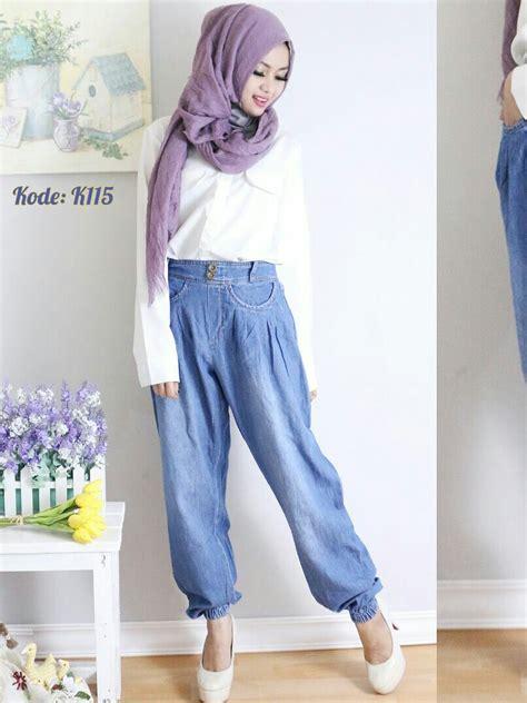 celana kulot variasi kancing celana joger kancing k115 baju style ootd