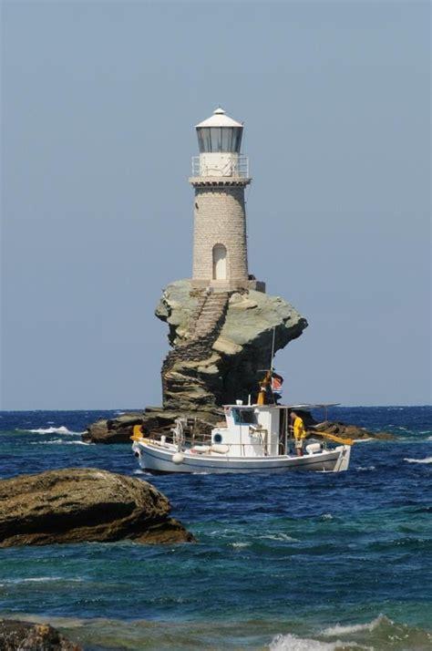 greece tourlitis lighthouse andros island