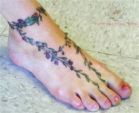 Vine Plant Tattoo For Foot Flower And Vine Tattoos For Foot