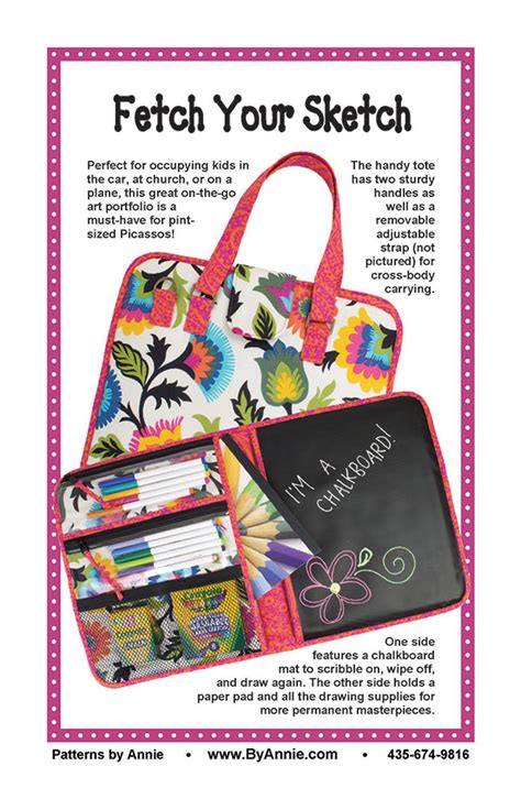 tote bag pattern books fetch your sketch tote bag pattern 810233000000
