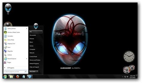 pc themes vikitech alienware theme for windows 7 and windows 8