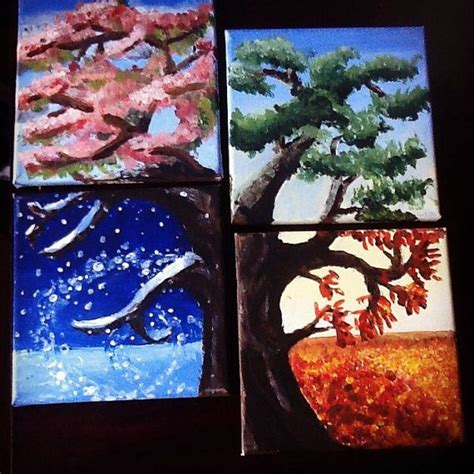 Painting 4 Seasons by 17 Best Ideas About Acrylic Canvas 2017 On