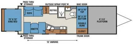 travel trailer hauler floor plans hauler floor plans 3920 class a hauler