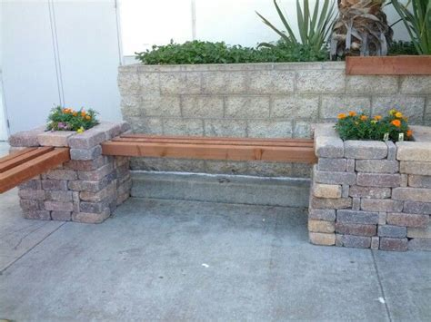 brick and wood bench corner bench just stack bricks place wood decorate