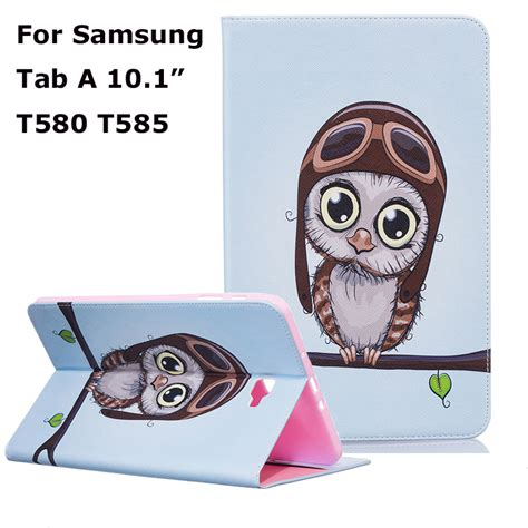 Flip Book Cover Samsung Galaxy Tab A 10 1 Inch lovely owl giraffe flip cover for samsung galaxy tab
