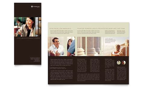 Financial Planning Brochure Templates Financial Services Financial Services Brochure Template Free