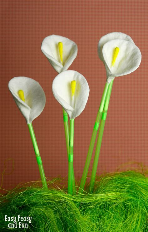 crafts flower cotton and q tip calla flowers easy peasy and
