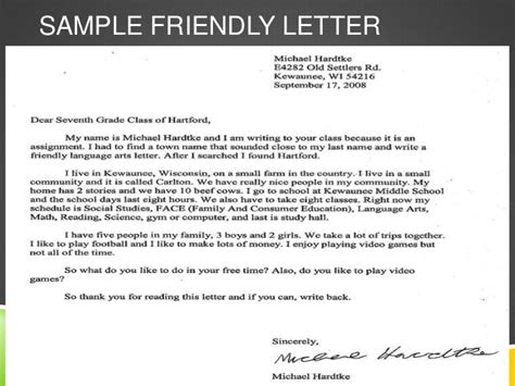 Closing Letter Friendly Friendly Letter