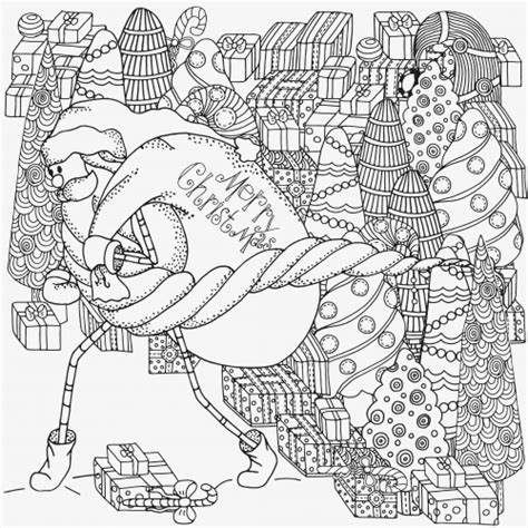 christmas coloring pages advanced advanced christmas coloring page 5 kidspressmagazine com