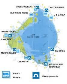 map of lake okeechobee florida lake okeechobee cing lodging motels cgrounds